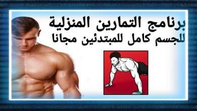 برنامج التمارين المنزلية للجسم كامل للمبتدئين مجانا