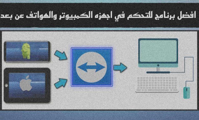برنامج التحكم في اجهزه الكمبيوتر والهواتف عن بعد