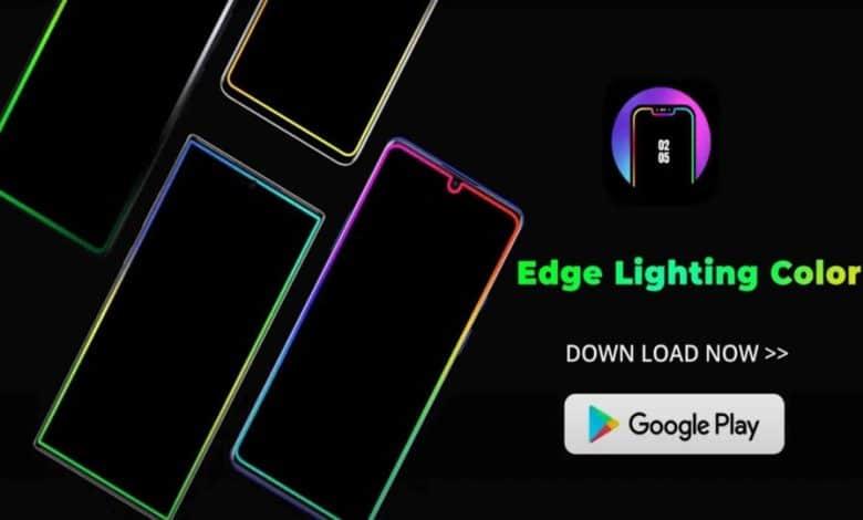 تحميل تطبيق نيون للحواف بشكل رهيب Edge Lighting Colors